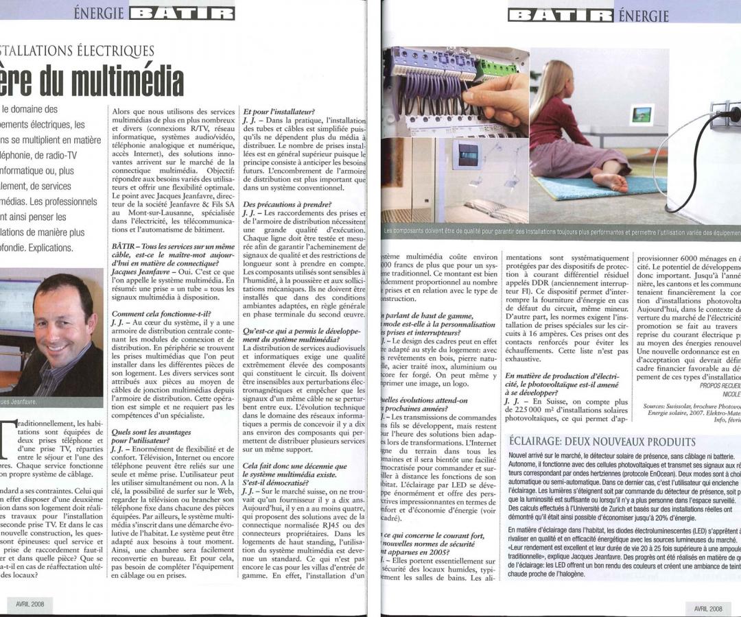 Article – BÂTIR – Aout 2008