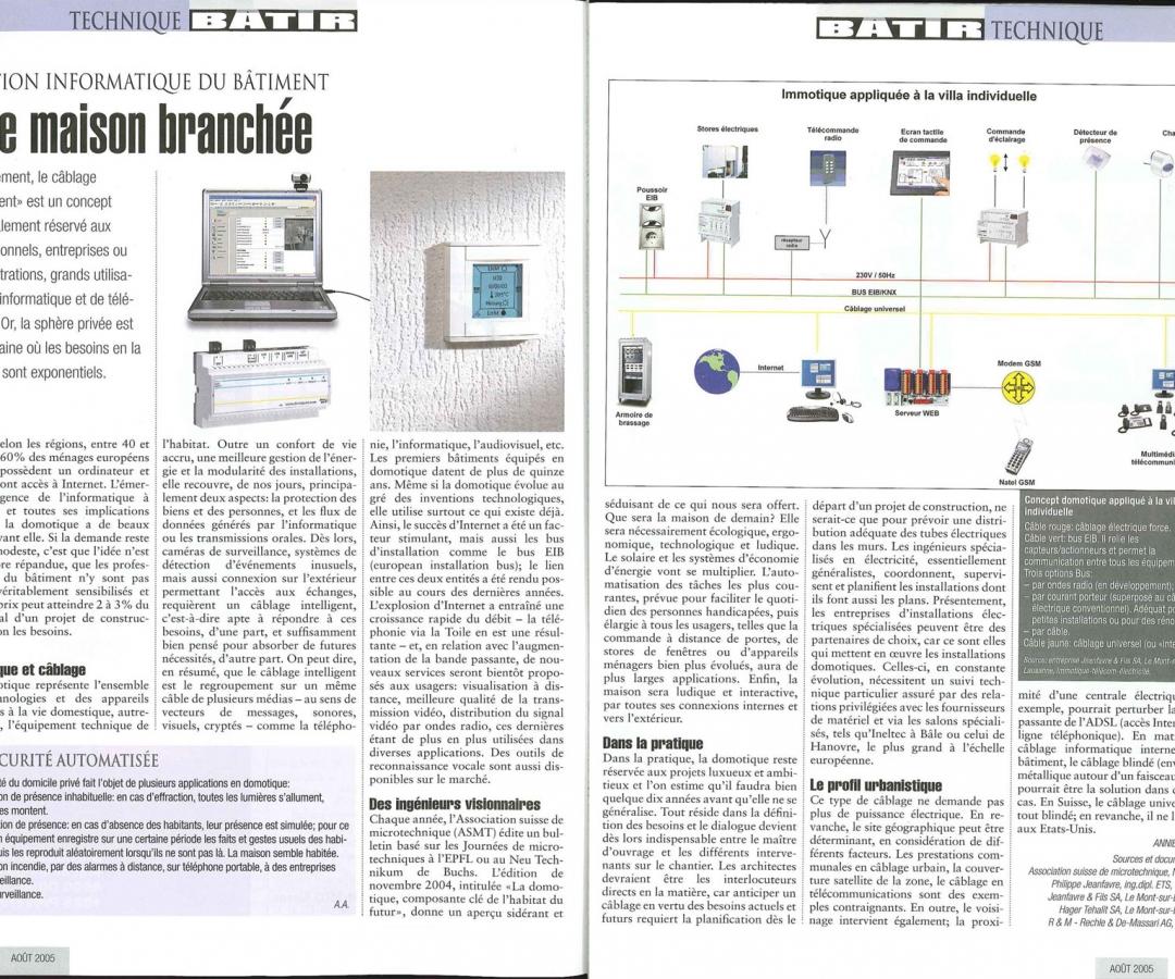 Article – BÂTIR – Aout 2005