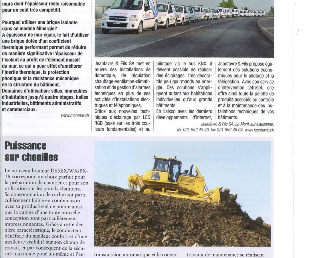 Article – BÂTIR – Février 2010