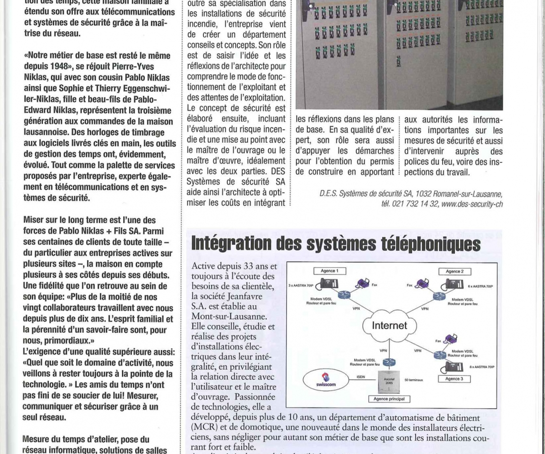 Article – BÂTIR – Avril 2009